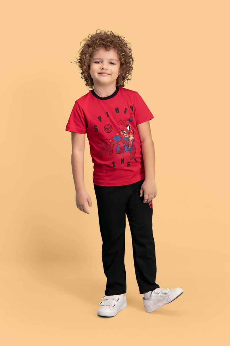 Spider Man - Spider Man Lisanslı Kırmızı Erkek Çocuk Pijama Takımı