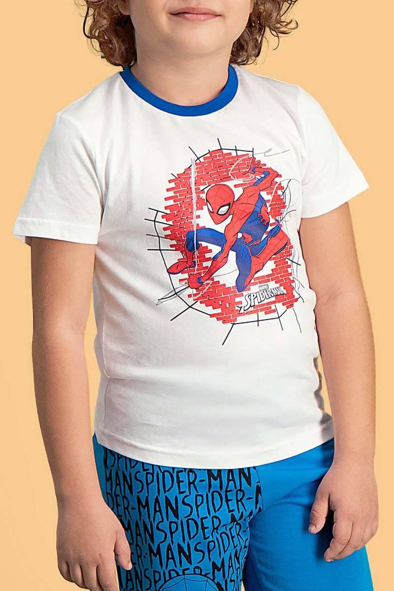 Spider Man - Spider Man Lisanslı Krem Erkek Çocuk Bermuda Takım (1)