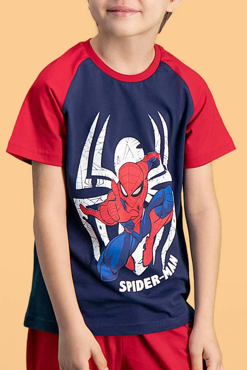 Spider Man - Spider Man Lisanslı Lacivert Erkek Çocuk Kapri Takım (1)