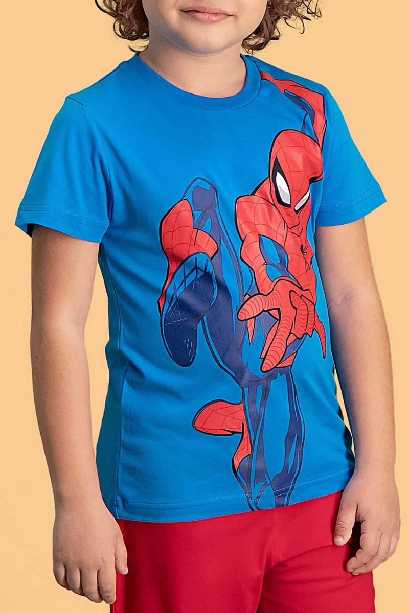 Spider Man - Spider Man Lisanslı Mavi Erkek Çocuk Kapri Takım (1)