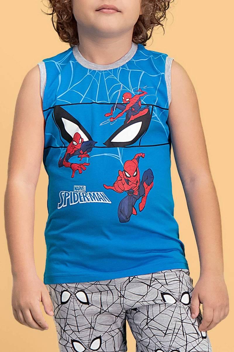 Spider Man - Spider Man Lisanslı Mavi Erkek Çocuk Şort Takım (1)