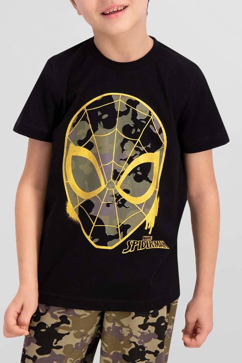 Spider Man - Spider Man Lisanslı Siyah Erkek Çocuk Pijama Takımı