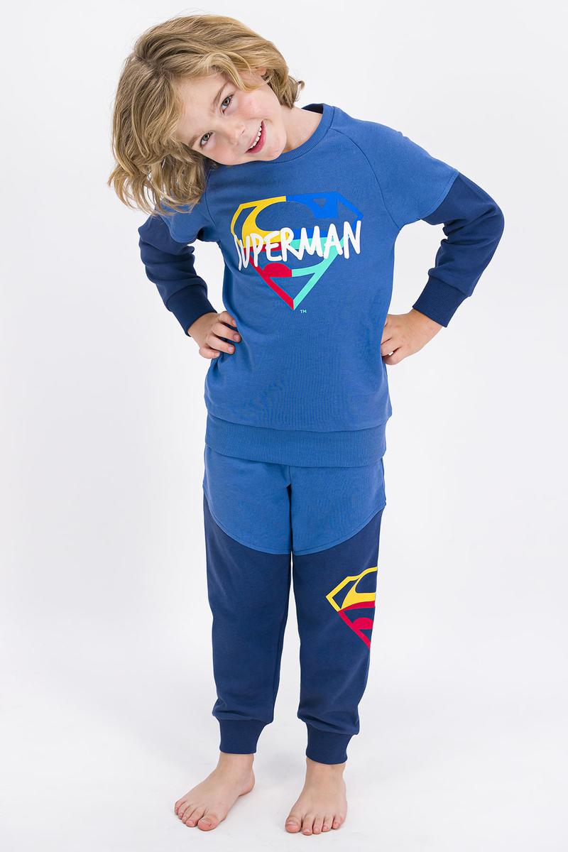 Superman - Superman Lisanslı İndigo Erkek Çocuk Eşofman Takımı