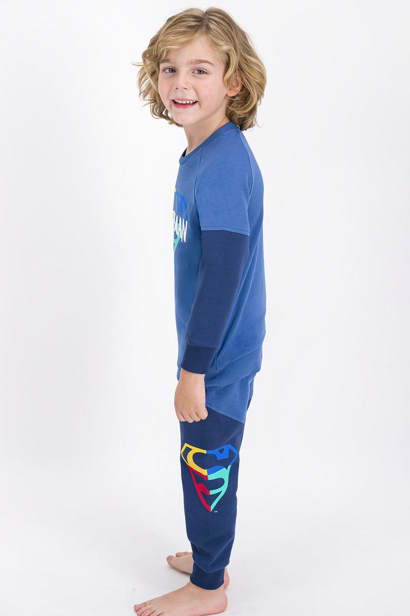 Superman - Superman Lisanslı İndigo Erkek Çocuk Eşofman Takımı (1)
