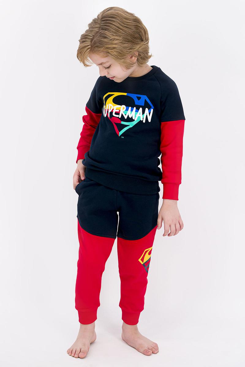 Superman - Superman Lisanslı Lacivert Erkek Çocuk Eşofman Takımı