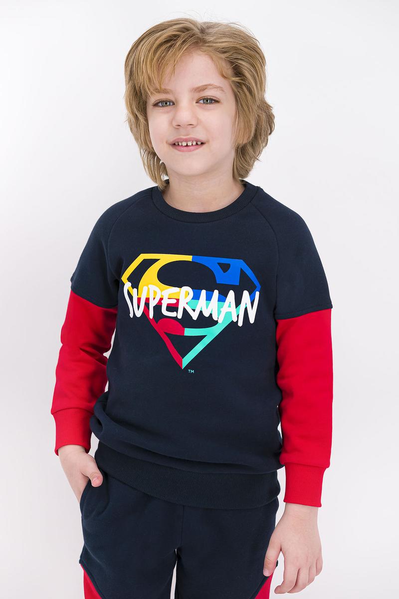 Superman - Superman Lisanslı Lacivert Erkek Çocuk Eşofman Takımı (1)