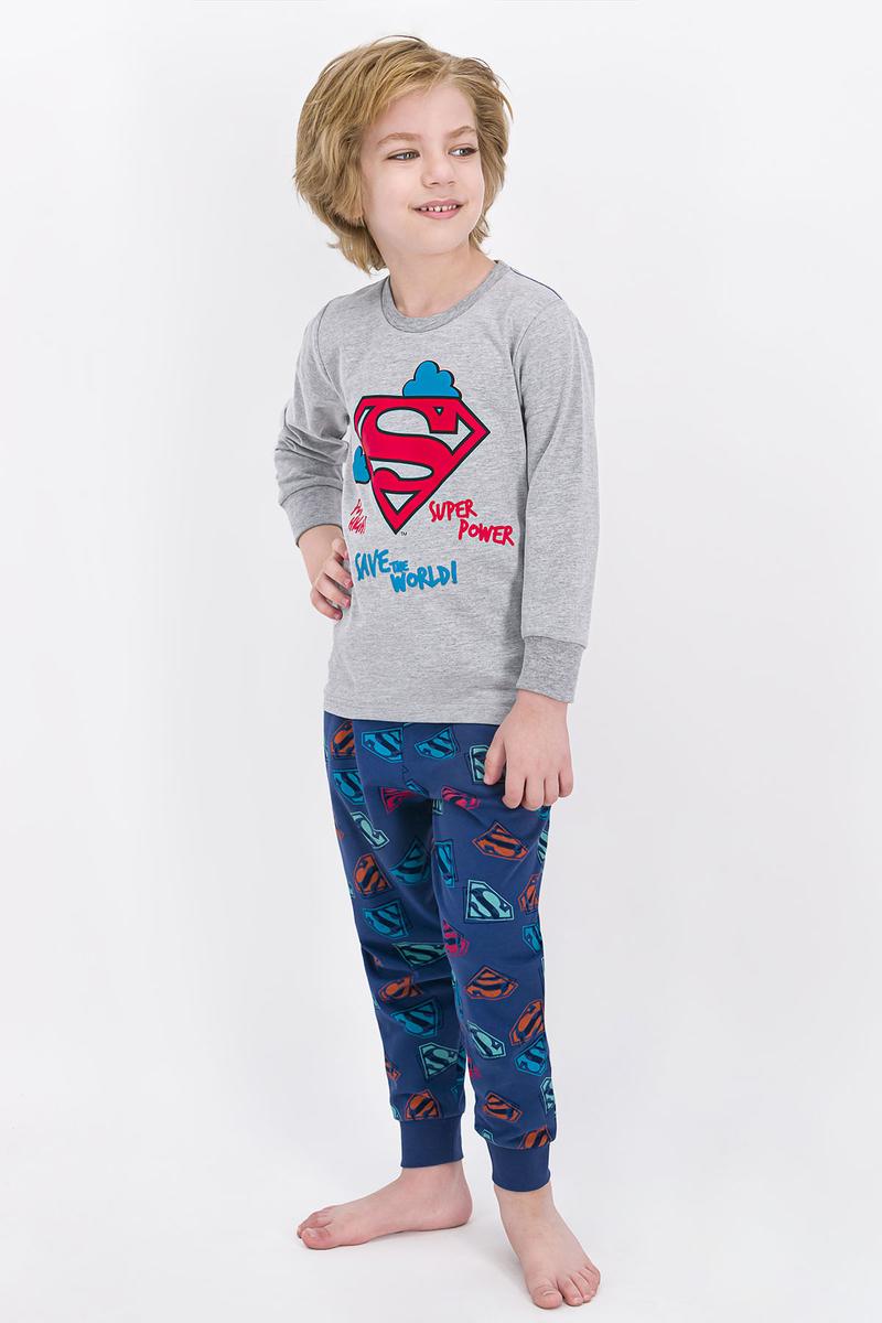 Superman - Superman Lisanslı Grimelanj Erkek Çocuk Pijama Takımı
