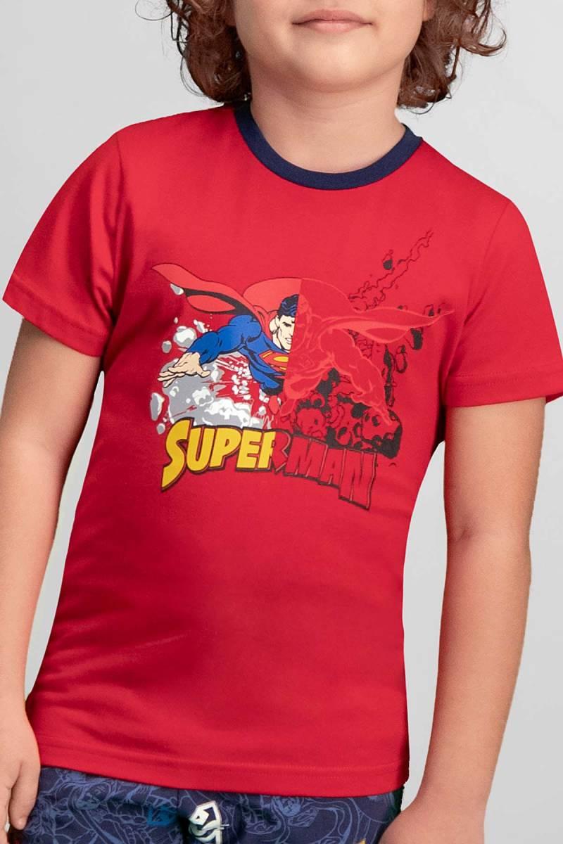 Superman - Superman Lisanslı Kırmızı Erkek Çocuk Kapri Takım (1)