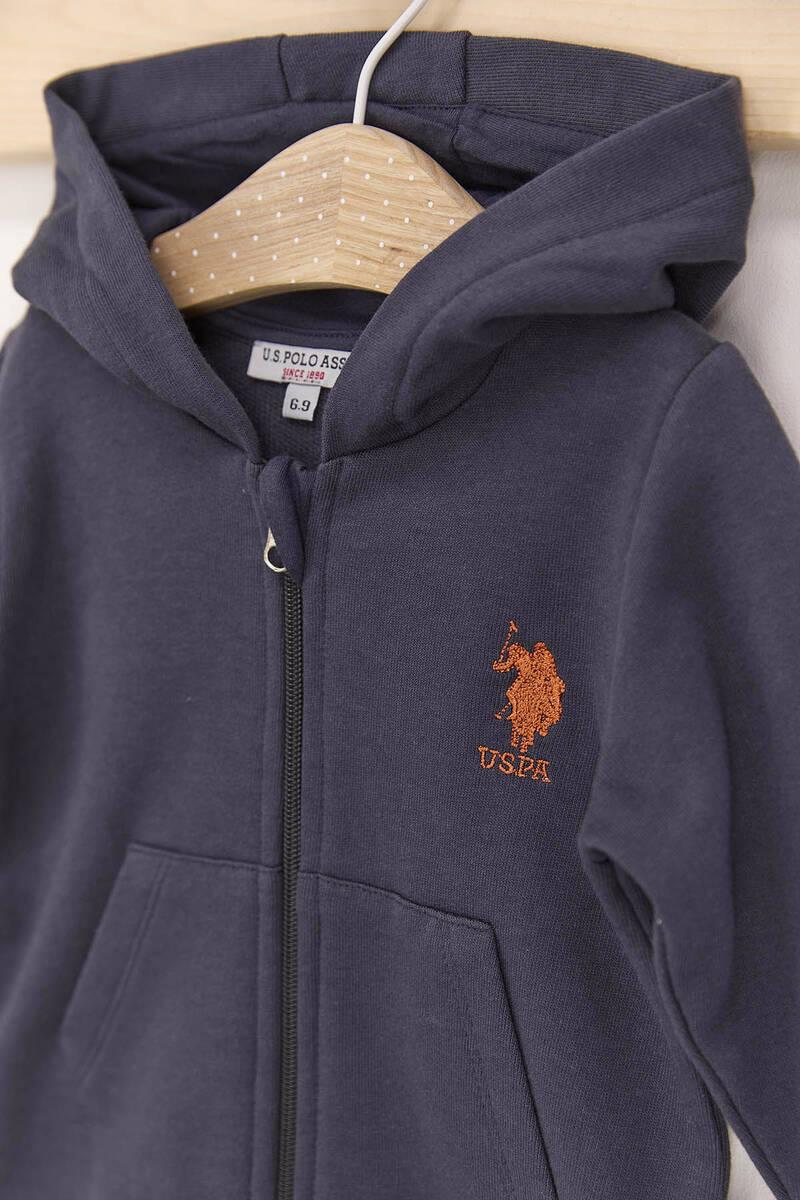 U.S. Polo Assn - U.S. Polo Assn Antrasit Erkek Bebek 3'Lü Eşofman Takımı (1)