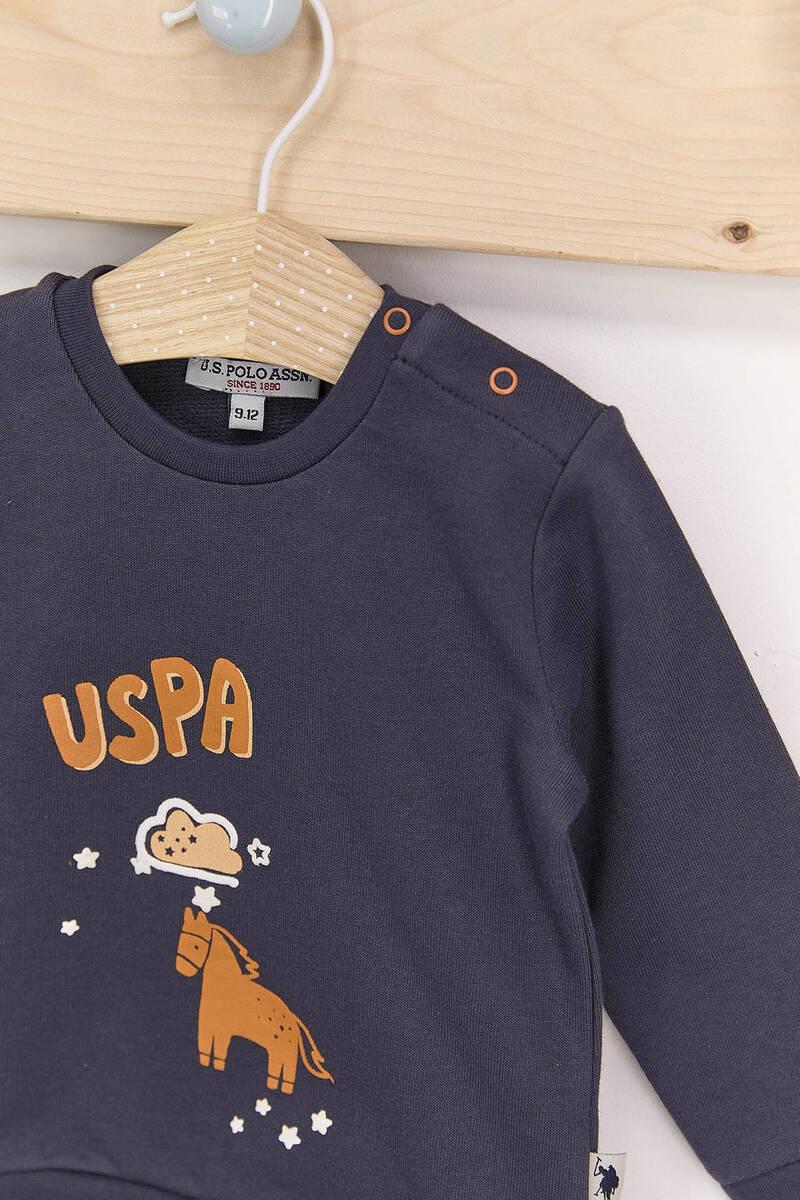 U.S. Polo Assn - U.S. Polo Assn Antrasit Erkek Bebek Takımı (1)
