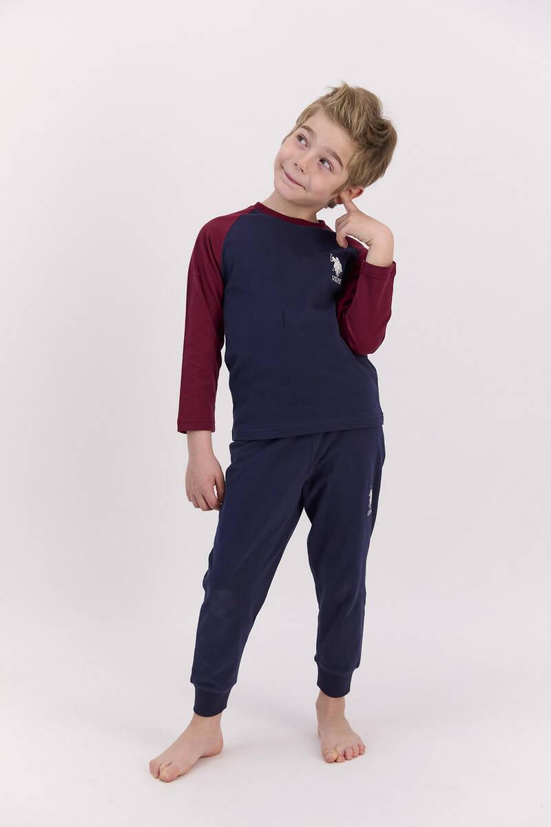 U.S. Polo Assn - U.S. Polo Assn Basic Lacivert Erkek Çocuk Pijama Takımı (1)