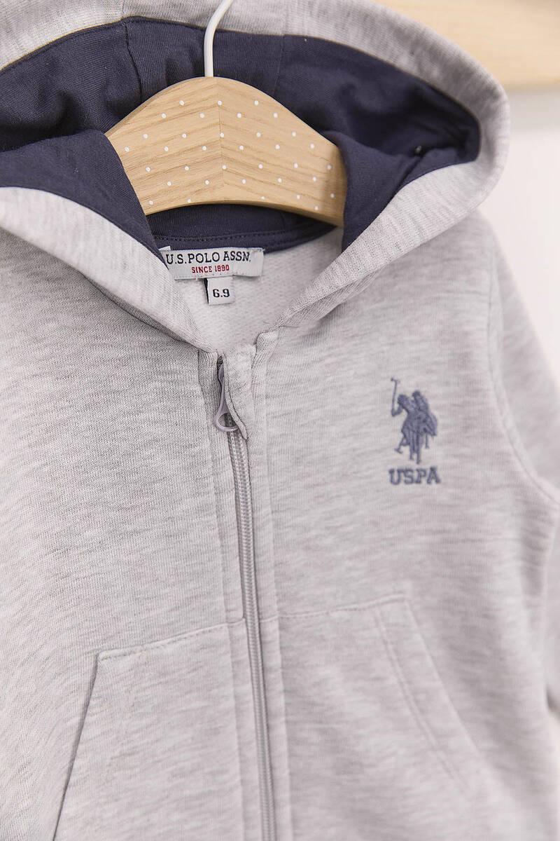 U.S. Polo Assn - U.S. Polo Assn Gri Erkek Bebek 3'Lü Eşofman Takımı