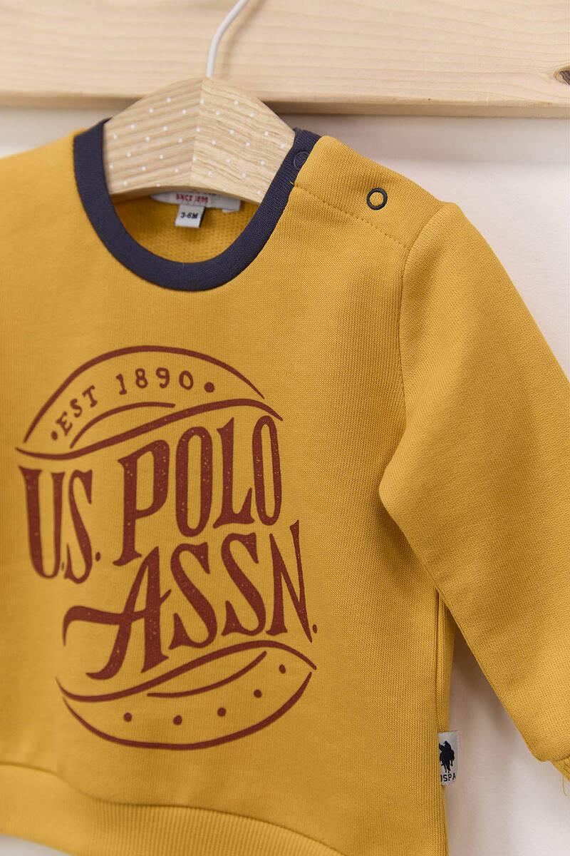 U.S. Polo Assn - U.S. Polo Assn Hardal Erkek Bebek Üç İplik Eşofman Takımı (1)