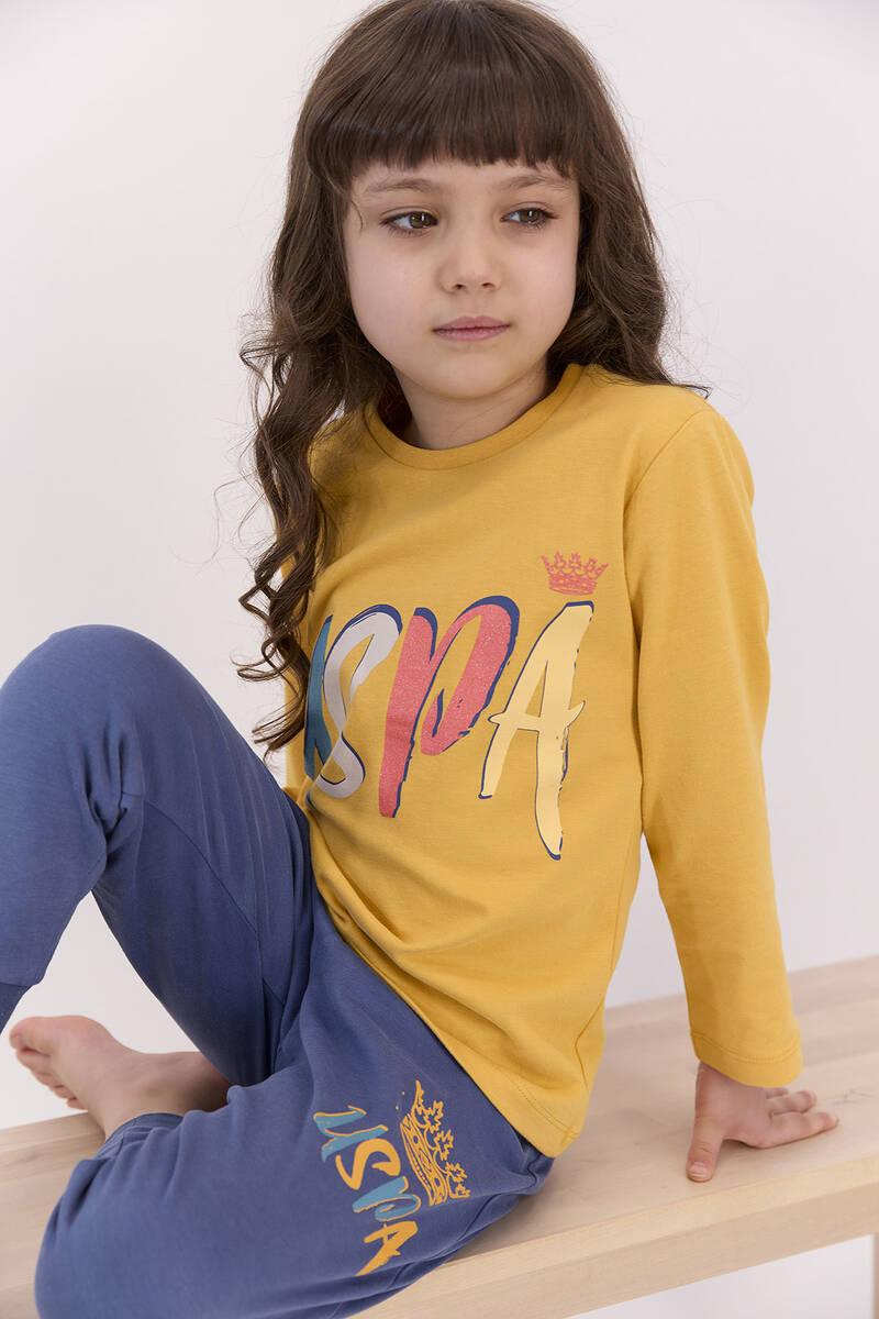 U.S. Polo Assn - U.S. Polo Assn Hardal Kız Çocuk Eşofman Takımı (1)