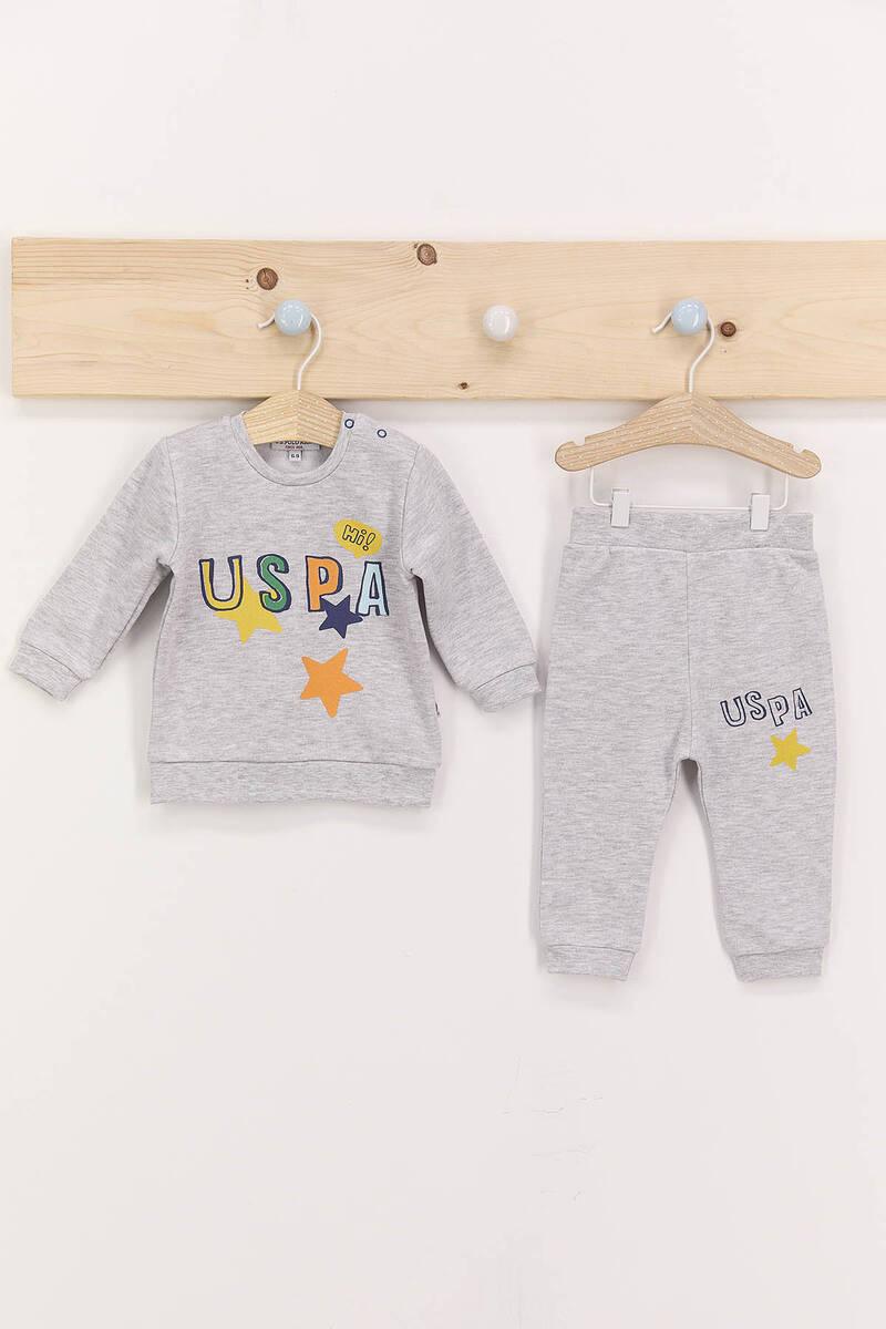 U.S. Polo Assn - U.S. Polo Assn Hi Karmelanj Erkek Bebek Eşofman Takımı
