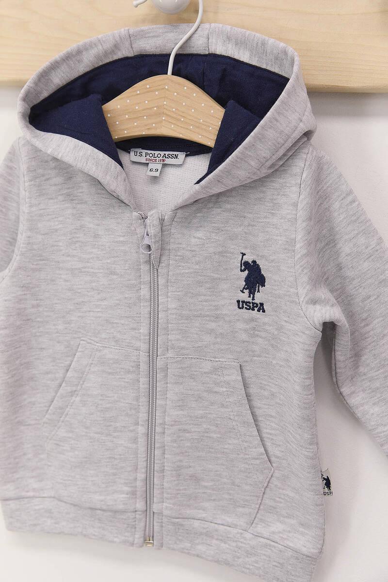 U.S. Polo Assn - U.S. Polo Assn Karmelanj Erkek Bebek 3'Lü Eşofman Takımı