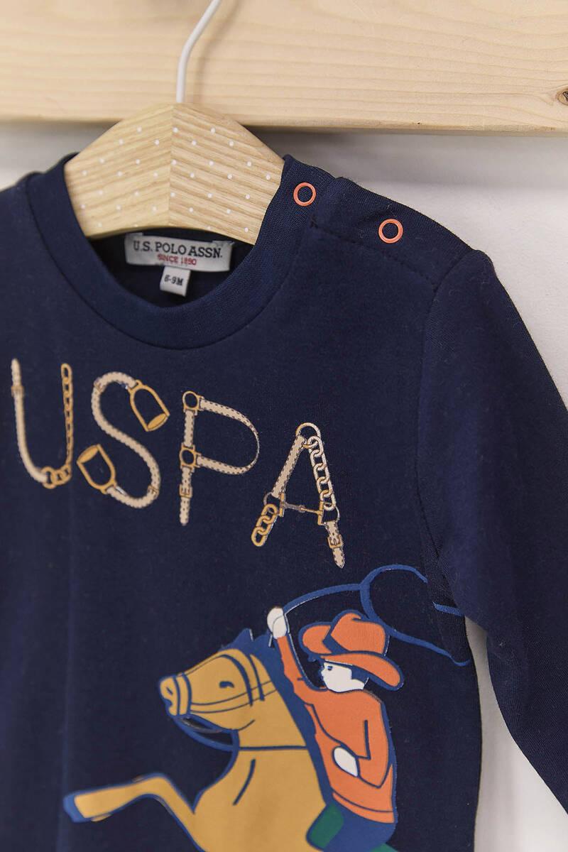 U.S. Polo Assn - U.S. Polo Assn Karmelanj Erkek Bebek 3'Lü Eşofman Takımı (1)