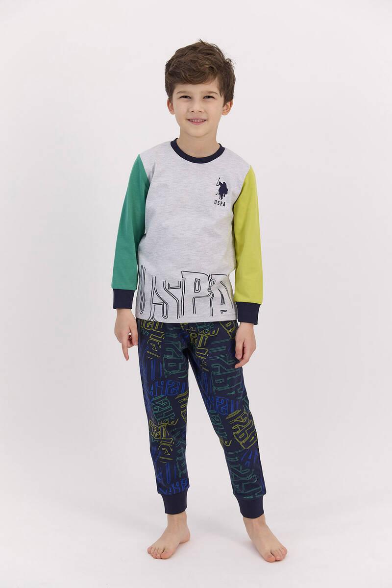 U.S. Polo Assn - U.S. Polo Assn Karmelanj Fıstık Erkek Çocuk Pijama Takımı