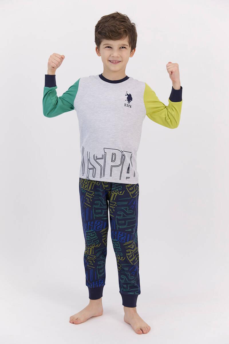 U.S. Polo Assn - U.S. Polo Assn Karmelanj Fıstık Erkek Çocuk Pijama Takımı (1)
