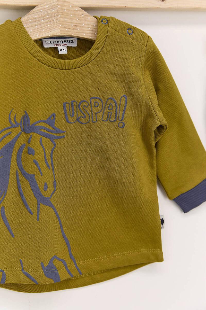 U.S. Polo Assn - U.S. Polo Assn Koyu İndigo Erkek Bebek 3'Lü Eşofman Takımı (1)