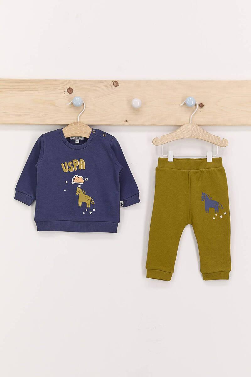U.S. Polo Assn - U.S. Polo Assn Koyu İndigo Erkek Bebek Takımı