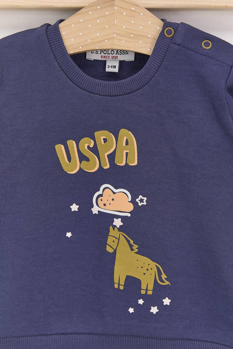 U.S. Polo Assn - U.S. Polo Assn Koyu İndigo Erkek Bebek Takımı (1)