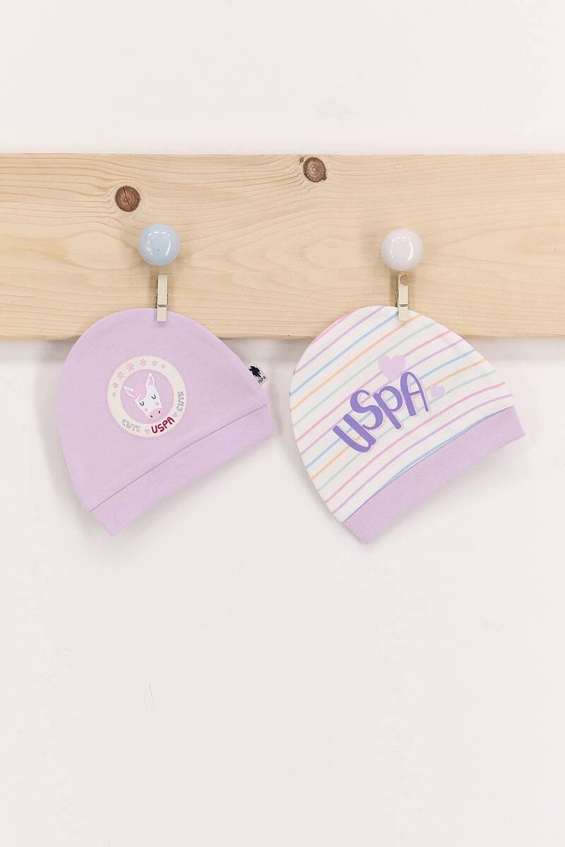U.S. Polo Assn - U.S. Polo Assn Lils Kız Bebek 2'Li Şapka Seti