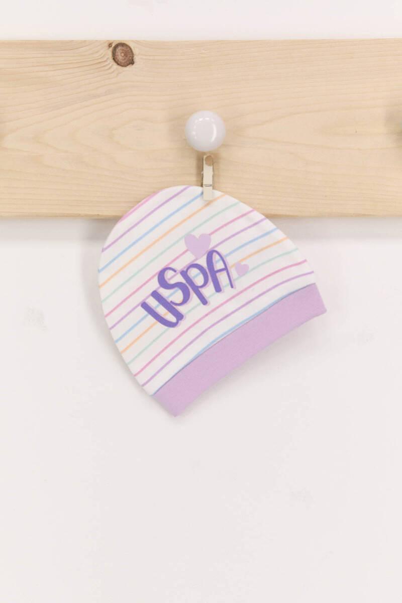 U.S. Polo Assn - U.S. Polo Assn Lils Kız Bebek 2'Li Şapka Seti (1)