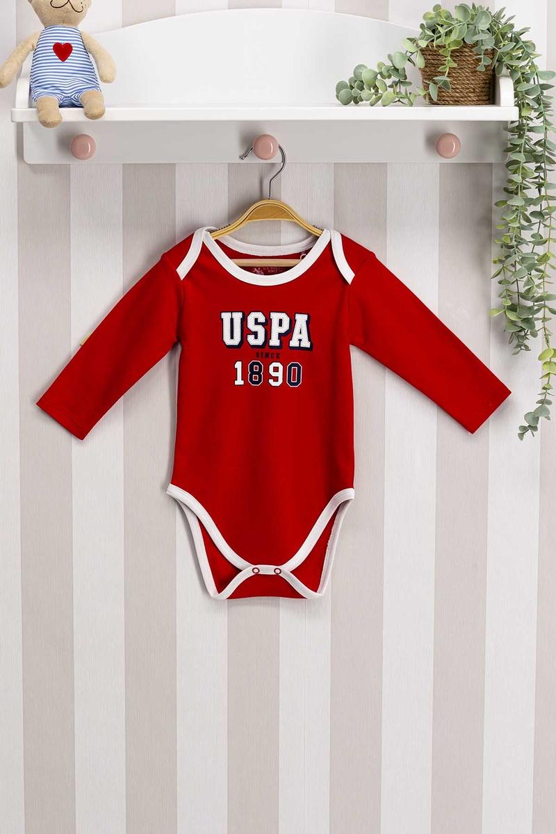 U.S. Polo Assn - U.S. Polo Assn Lisanslı Bebek Body Zıbın