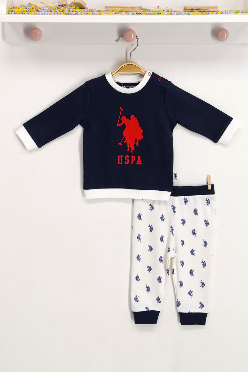U.S. Polo Assn - U.S. Polo Assn Lisanslı Lacivert Bebek Takım